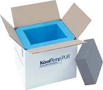 Cold Chain KoolTemp Molded Polyurethane Containers, Model U87-2-V, Pack of 3