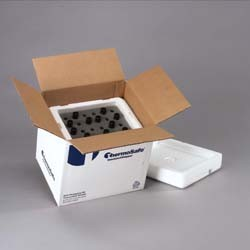 ThermoSafe Brands ThermoSafe Foam Vial Shippers - 24-Vial Shipper for 16-20 mm Vials, Model 413-C24